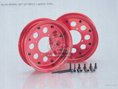 Alum Wheel Set (2.50-8/red) Monkey.gorilla