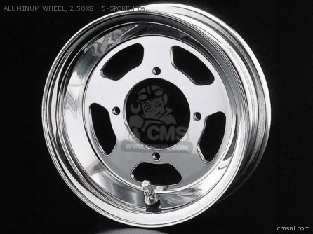Aluminum Wheel, 2.50x8 5-spoke