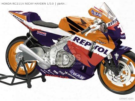 Honda Rc211v Nicky Hayden 1/10