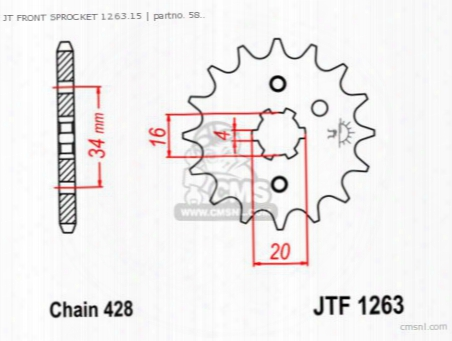Jt Front Sprocket 1263.15