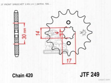 Jt Front Sprocket 249.14