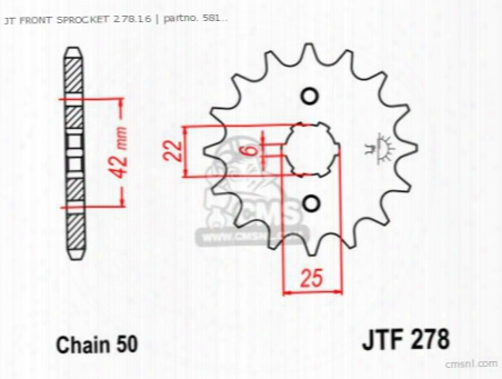 Jt Front Sprocket 278.16