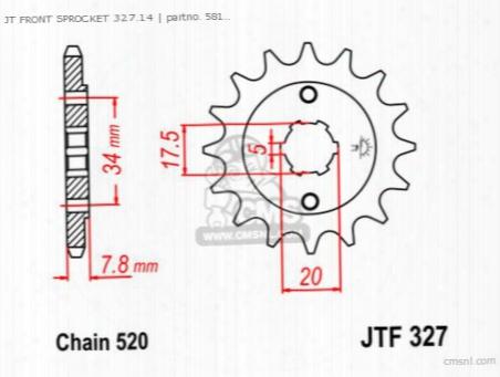 Jt Front Sprocket 327.14