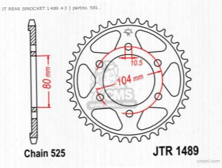 Jt Rear Sprocket 1489.43