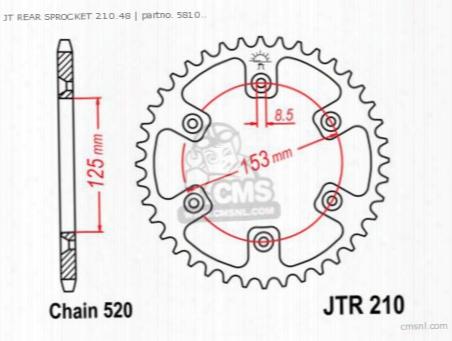 Jt Rear Sprocket 210.48