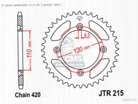 Jt Rear Sprocket 215.49