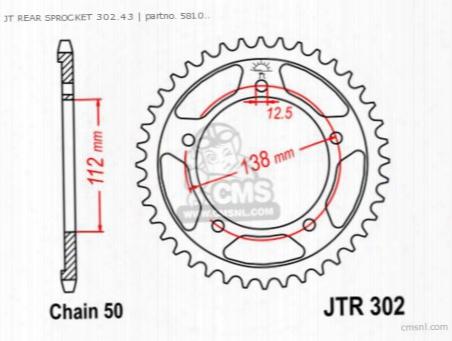 Jt Rear Sprocket 302.43
