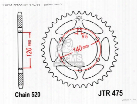 Jt Rear Sprocket 475.44