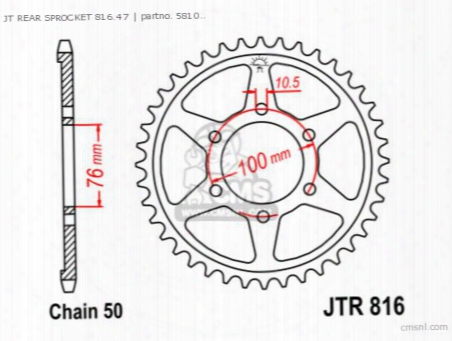 Jt Rear Sprocket 816.47