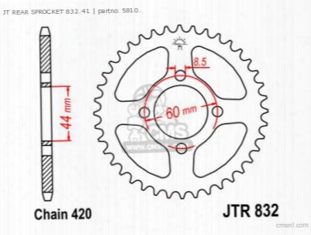 Jt Rear Sprocket 832.41