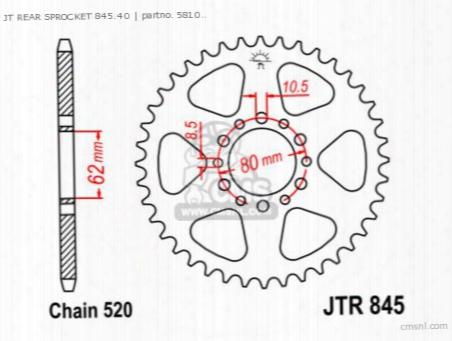Jt Rear Sprocket 845.40