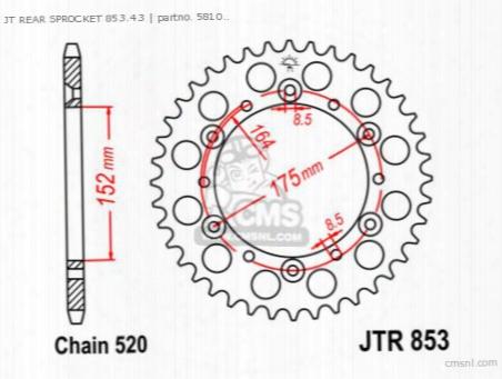 Jt Rear Sprocket 853.43