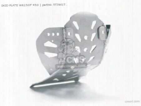Skid Plate Wr250f 450f '07