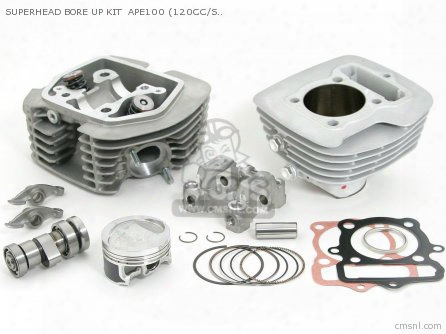 Superhead Bore Up Kit Ape100 (120cc/stage-3/plated Cylinder)