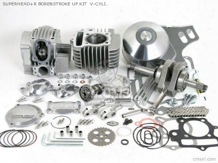 Superhead+r Bore&stroke Up Kit V-cylinder (s-20/124cc/3-point S