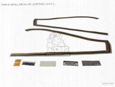 Tank & Small Decal Kit (cb750k) 1973