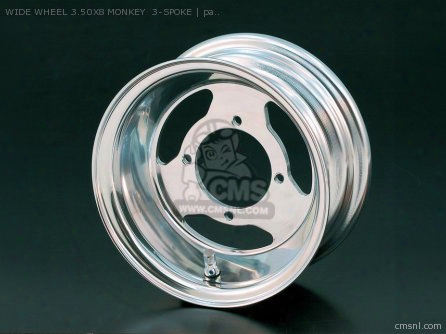 Wide Wheel 3.50x8 Monkey 3-spoke