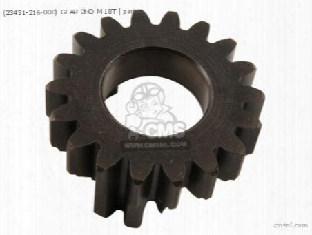 (23431-216-000) Gear 2nd M 18t