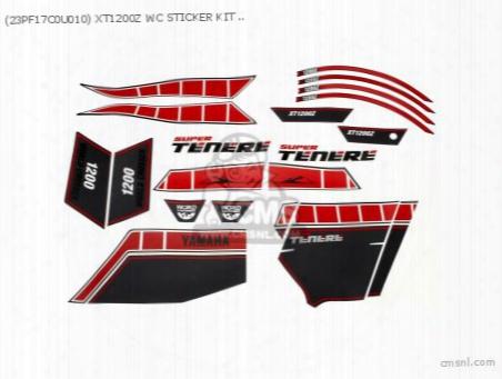 (23pf17c0u010) Xt1200z Wc Sticker Kit Red