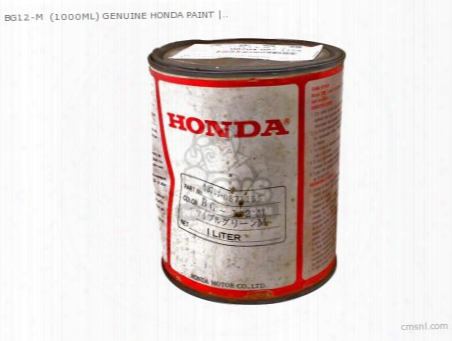 Bg12-m (1000ml) Genuine Honda Paint