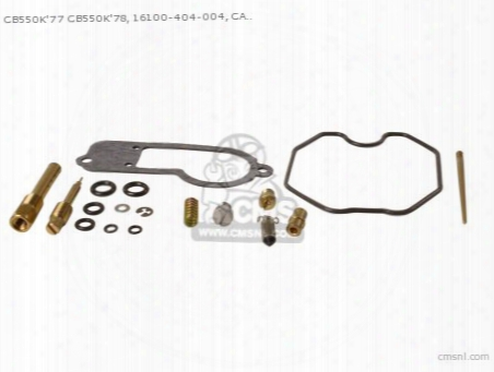 Cb550k'77 Cb550k'78, 16100-404-004, Carb Revision Set Japanese