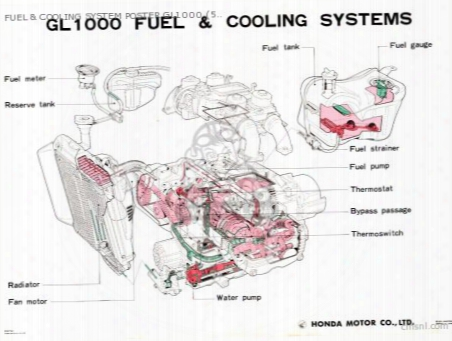 Fuel & Cooling System Poster Gl1000 (59x84cm)