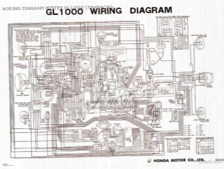 Wiring Diagram Poster Gl1000 (59x84cm)