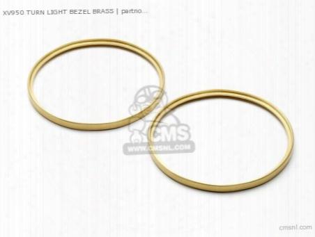 Xv950 Turn Light Bezel Brass