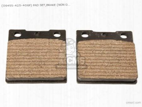 (06455-425-406p) Pad Set,brake (non O.e. Japanese Alternative)