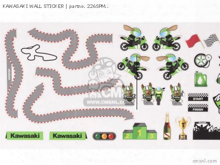Kawasaki Wall Sticker