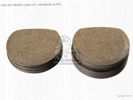 Pad.set.brake (organic) (non O.e. Japanese Alternative)