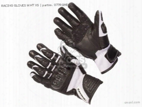Racing Gloves Wht Xs