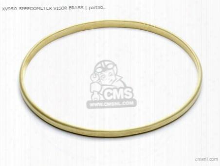 Xv950 Speedometer Visor Brass