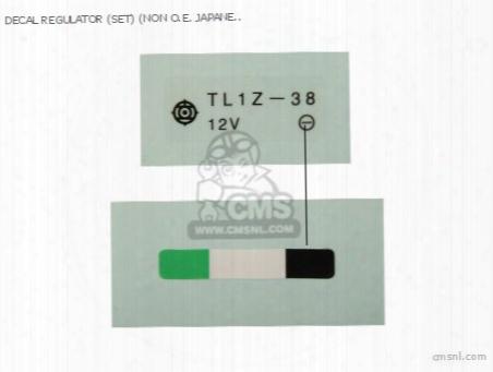 Decal Regulator (set) (non O.e. Japanese Alternative)