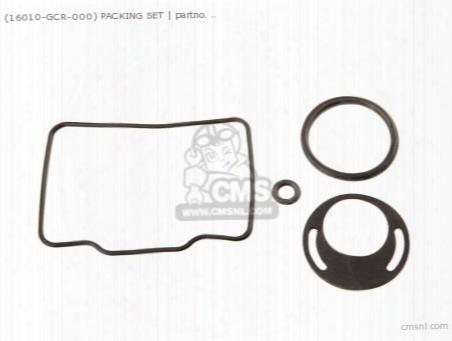 (16010gcr000) Packing Set