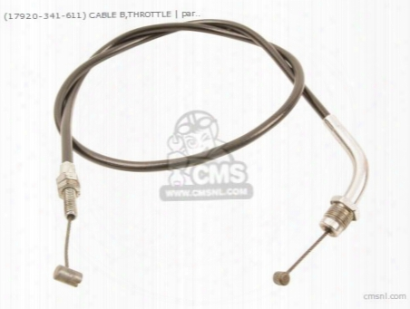 (17920-341-611) Cable B,throttle