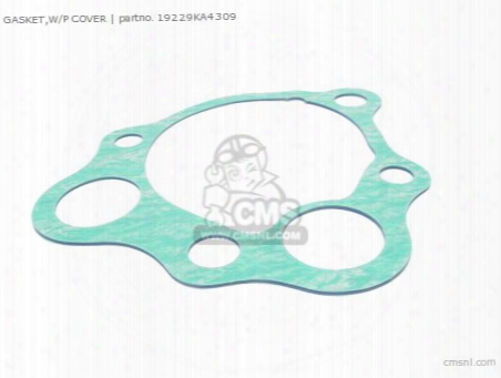 Gasket,w/p Cover