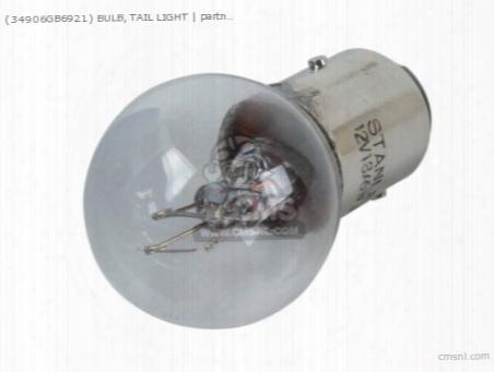 (34906gb6921) Bulb, Tail Light