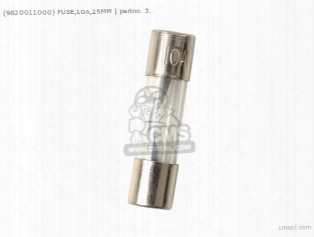 (9820011000) Fuse,10a,25mm