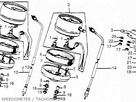 (37260449840) Cable Tachometer