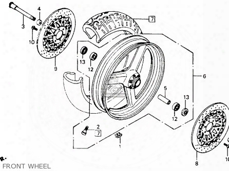 (44301-mz1-610) Axle,front Wheel