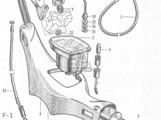 (45450-065-405) Cable,front Brake