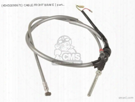 (45450098671) Cable,front Brake