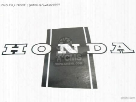 (87125098670) Emblem,l Front