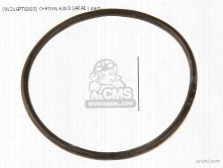 (91316pt6003) O-ring,63x3 (arai