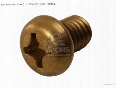 (93500060084j) Screw,pan,6x8