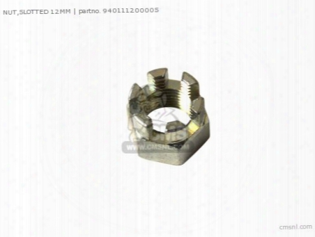 Nut,slotted 12mm