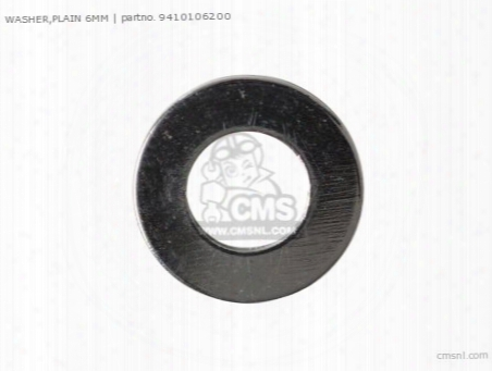 Washer Flat 6mm