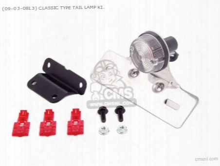 (09-03-0813) Classic Type Tail Lamp Kit (clear Lens ) 12v Monk