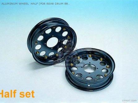 Aluminum Wheel Half (for Rear Drum Brake) Monkey ,gorilla 10 Inc
